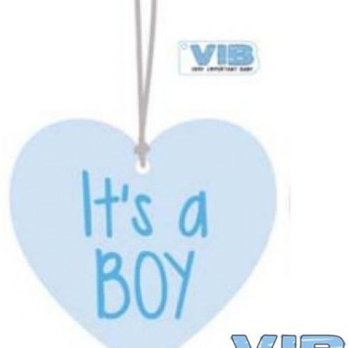 Kasthanger hart roze it's a boy van VIB