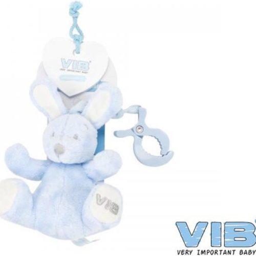 Baby speelgoed activity konijn met clip blauw van VIB