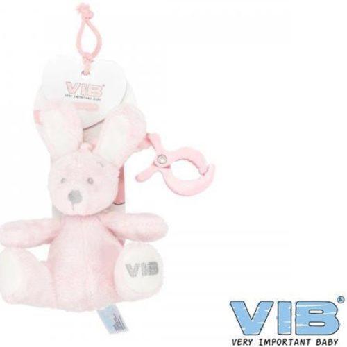 Baby speelgoed activity konijn met clip roze van VIB