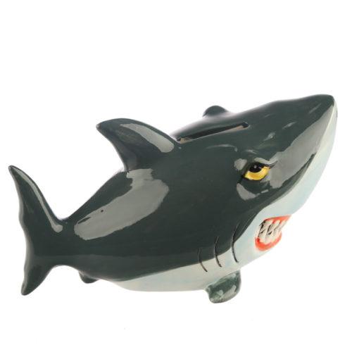 Spaarpot haai cartoon van keramiek