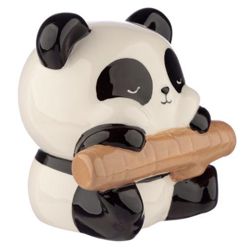 Spaarpot panda beer op tak van keramiek