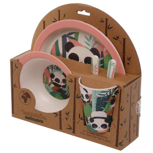 kinderservies setje Panda beer van Bambootique