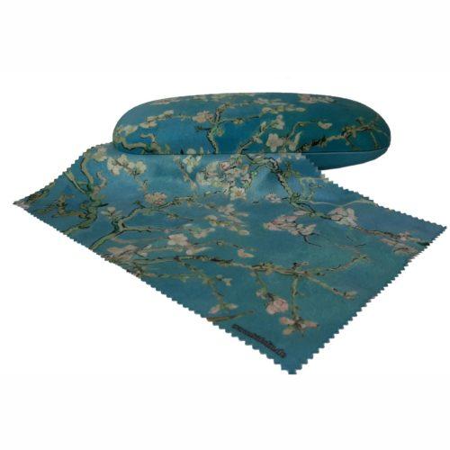 Luxe brillenkoker Vincent Van Gogh Almond Blossom met poetsdoek
