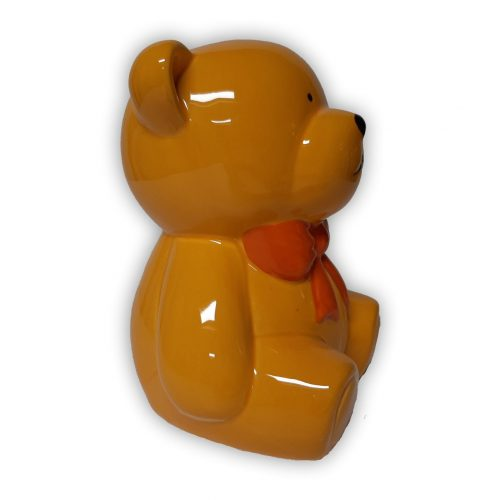 Spaarpot beer met strik geel