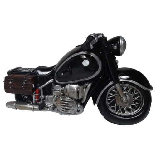 Spaarpot motor zwart met tassen