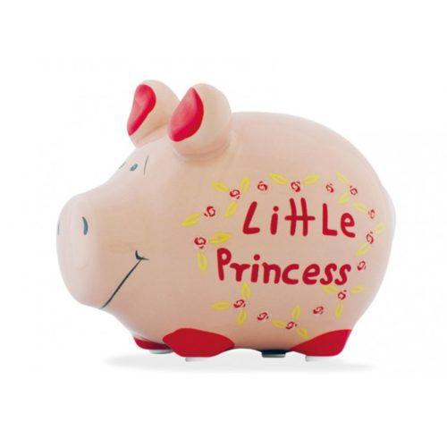 Spaarpot spaarvarken roze voor meisjes little princess