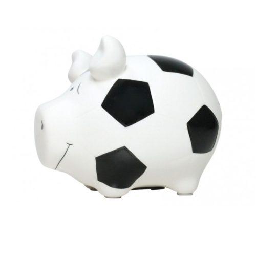 Spaarpot spaarvarken voetbal van keramiek