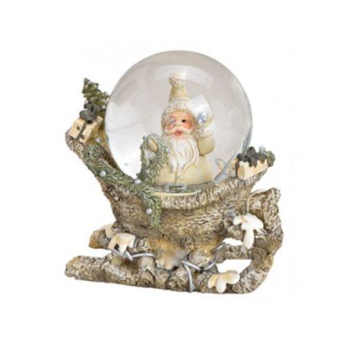 Sneeuwbol nostalgische kerstman op slee