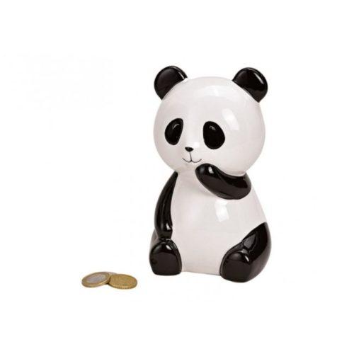Spaarpot panda beer in zwart wit van keramiek