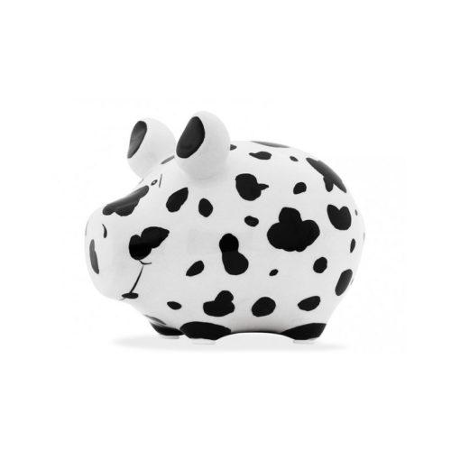 Spaarpot spaarvarken Dalmatier vlekken in wit en zwart