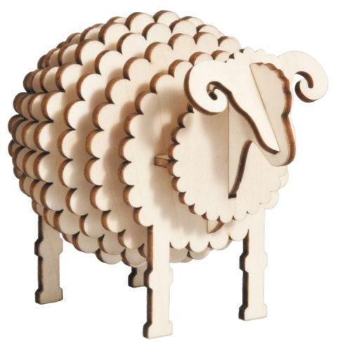3D puzzel schaap van hout