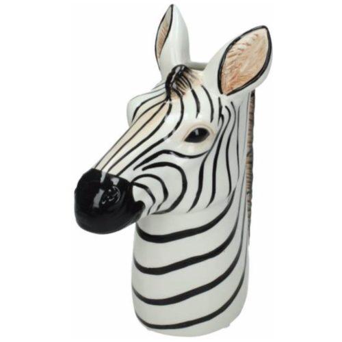 Bloemen vaas in zebra vorm in 3D