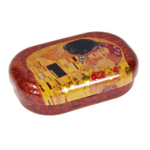 Contactlensdoosje-lenzendoosje Gustav Klimt De Kus