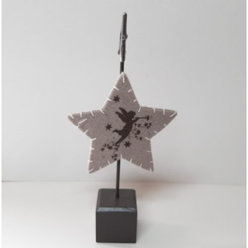 Kerst kaart of menuhouder met knijper en vilten ster