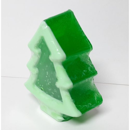 Kerst zeep kerstboom in licht en donker groen