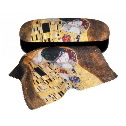 Luxe brilkoker Gustav Klimt De Kus met poetsdoek