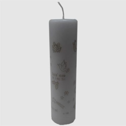 Adventskaars wit 20 cm hoog merk Rustiklys