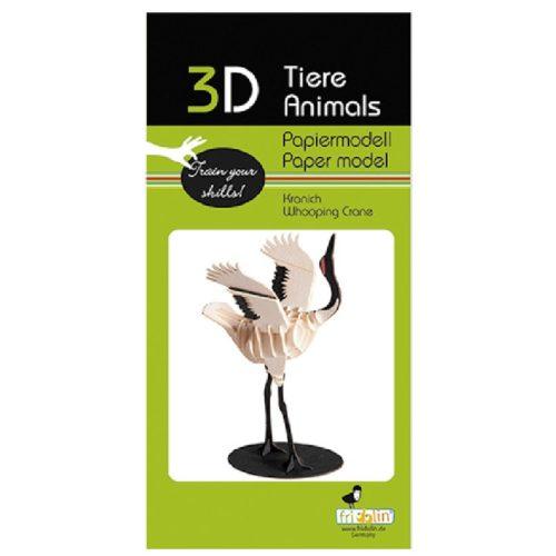 3D puzzel en bouwpakket zwart witte kraanvogel