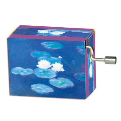 Muziekdoosje kunstenaars Claude Monet Waterlelies melodie vier jaargetijden Vivaldi