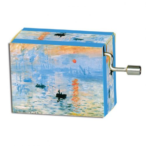 Muziekdoosje kunstenaars Claude Monet Zonsopgang-sunrise melodie Für Elise
