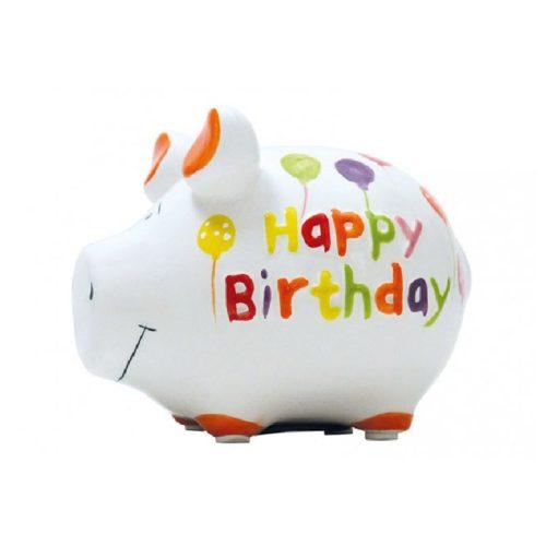 Spaarpot spaarvarken verjaardag Happy Birtday