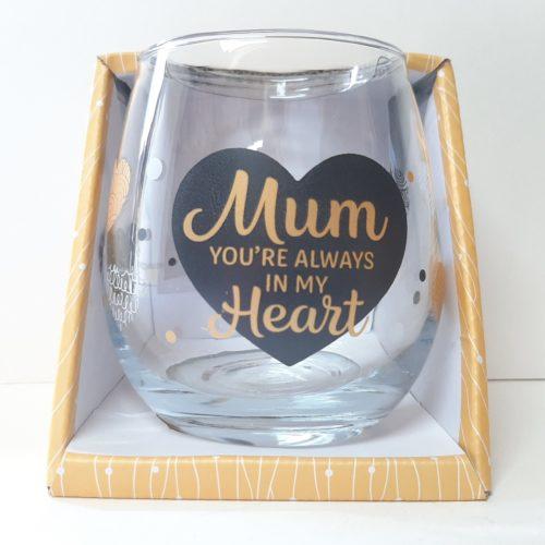 Wijn- waterglas MUM you are always in my heart