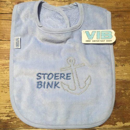 Slabbetje Stoere Bink blauw van Very Important Baby-VIB