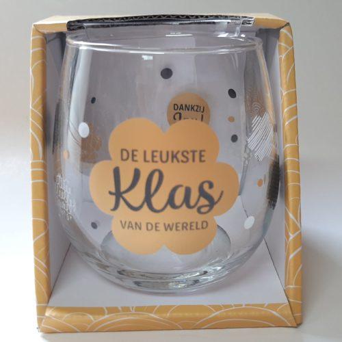 Water- wijnglas De leukste KLAS van de wereld