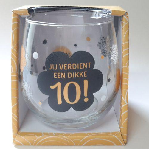 Water- wijnglas Jij verdient een dikke 10