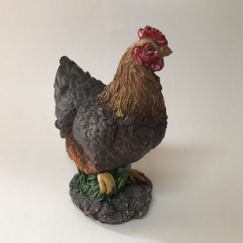 Beeld boerderijdier kip bruin van Farmwood