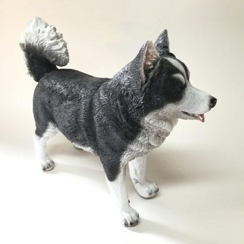 Beeldje hond Siberische Husky 25cm breed van Farmwood