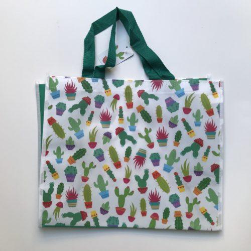 Nylon boodschappentas cactussen