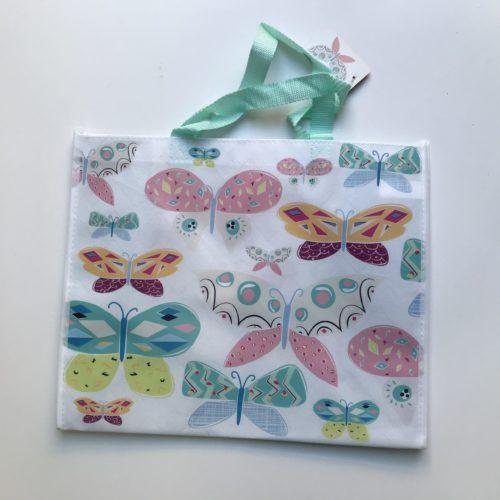 Nylon boodschappentas gekleurde vlinders