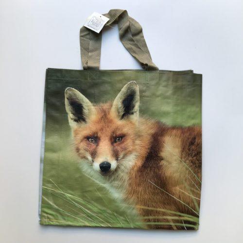Nylon boodschappentas vossen