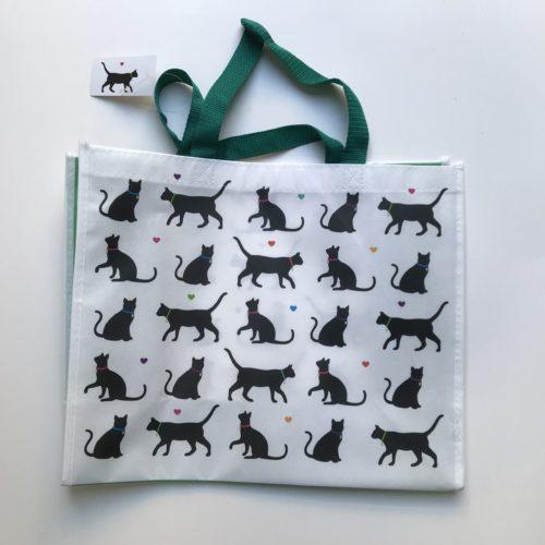 Nylon draagtas met diverse symbolen van zwarte katten