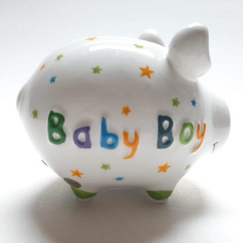 Spaarvarken kraam cadeau Baby Boy