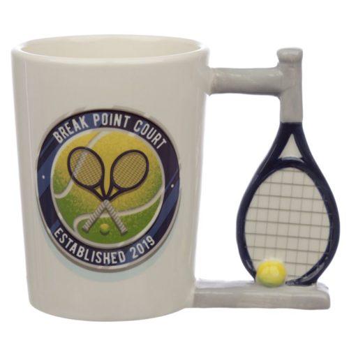 3D Mok Tennis met racket als oor