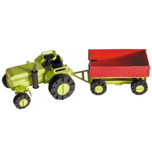 3D puzzel en bouwpakket tractor met aanhangwagen