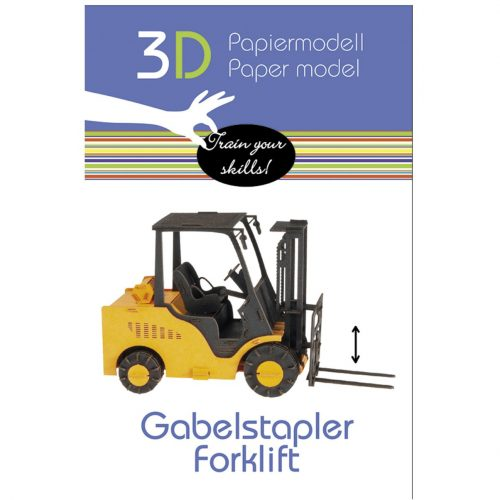 3D puzzel en bouwpakket vork heftruck