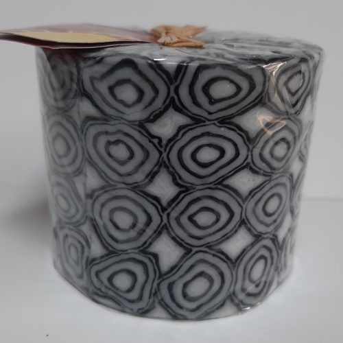 Fairtrade Swazi kaars in zwart wit met ronde motieven
