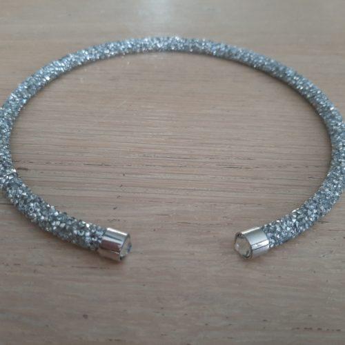 Gala ketting Licht zilver met heldere kraal
