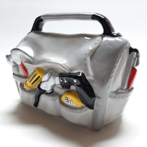 Grote spaarpot gereedschap tas voor bouwer of klusser