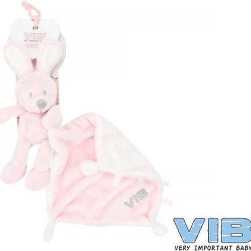 Baby knuffeldoekje VIB konijn roze
