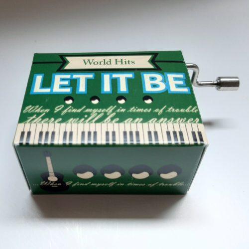 Muziekdoosje wereldhits Let it be van de Beatles in groen