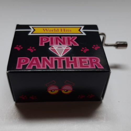 Muziekdoosje wereldhits Pink panther in zwart en roze