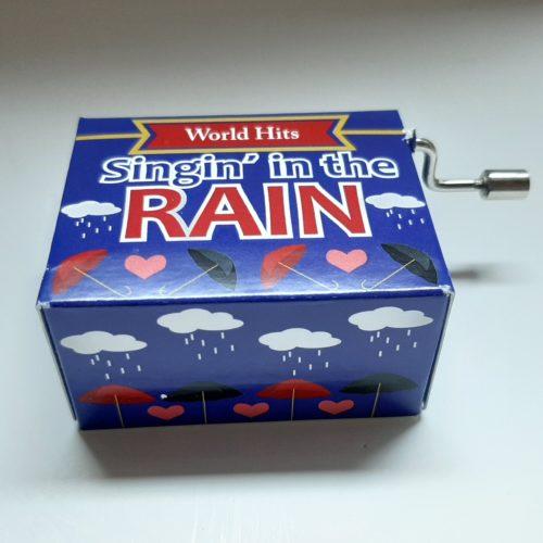 Muziekdoosje wereldhits Singin in the rain