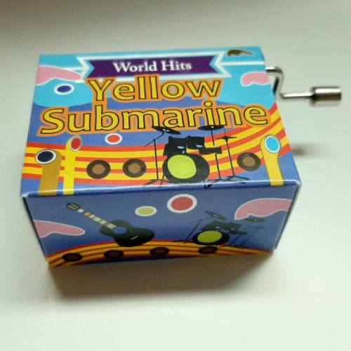 Muziekdoosje wereldhits Yellow Submarine van de Beatles in bonte kleuren