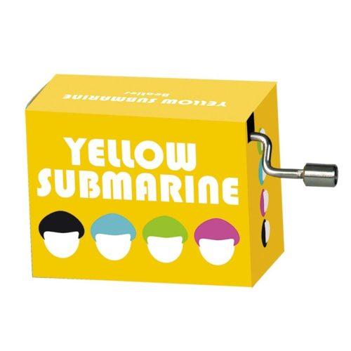 Muziekdoosje wereldhits Yellow submarine van the Beatles