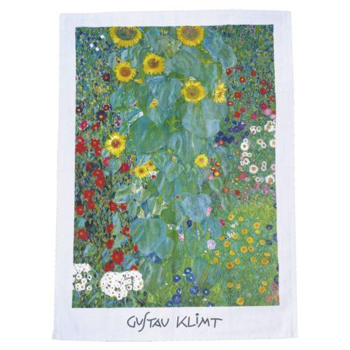Theedoek kunstenaars Gustav Klimt Farm garden