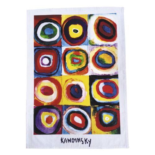 Theedoek kunstwerk Colour Study van Kandinsky